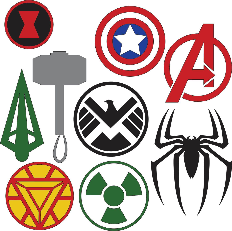 superhero logos printable buscar con google