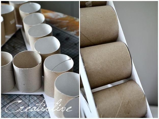 DIY Dekobuchstaben aus Papprollen | crafts | Diy deko buchstaben ...