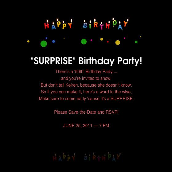 Cool 50th Birthday Surprise Party Invitations Free Printable - birthday invitation templates free word