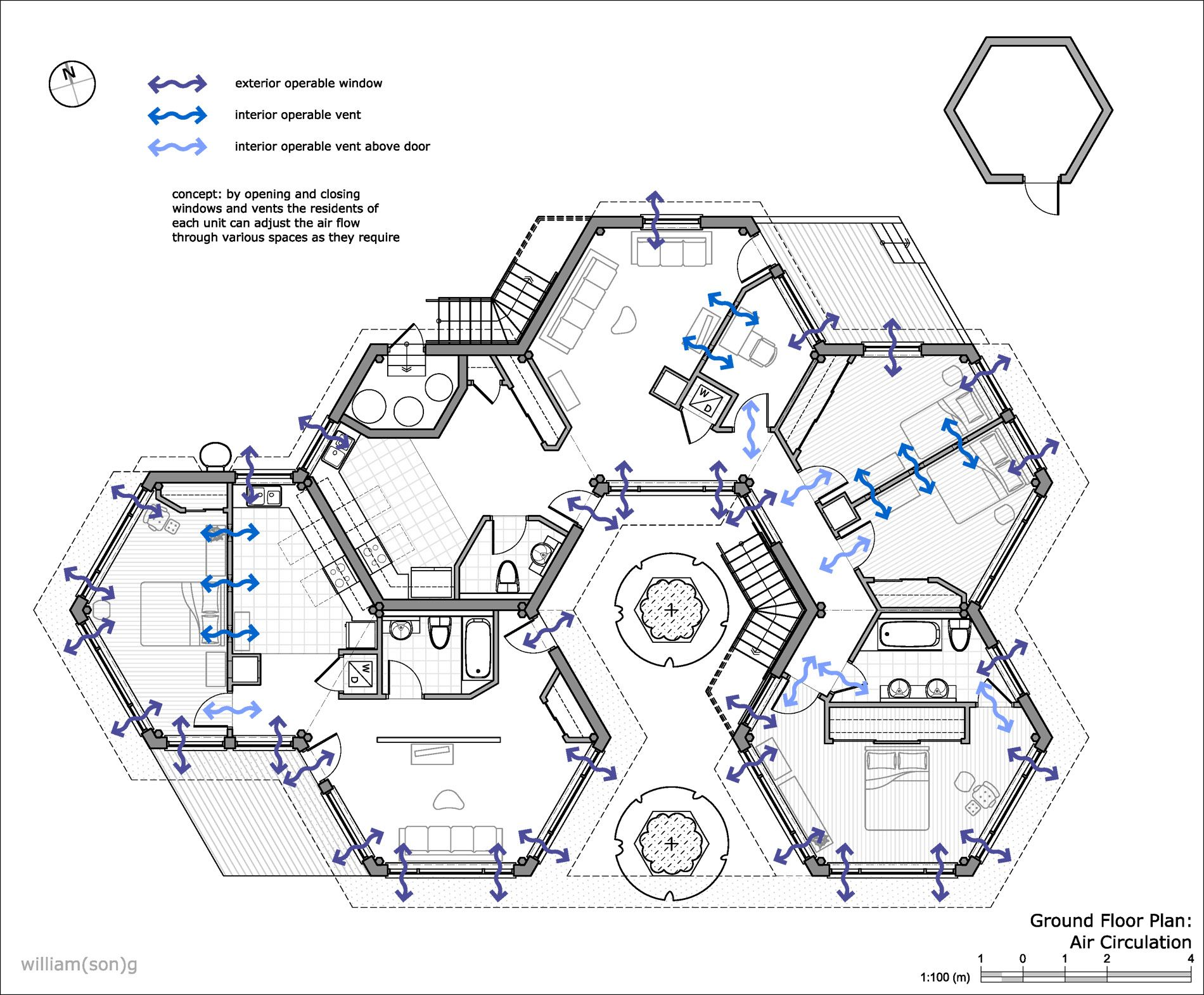 Our Complex Has The Ability To Expand And Build Up For Future Developments This Is An Ex Hexagonal Architecture Architectural Floor Plans Concept Architecture