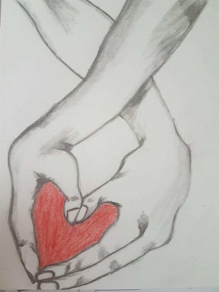 handinhand beziehung zeichnen zeichnung bleistift