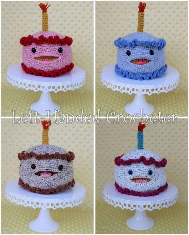 Smiling Birthday Cake | Crochet cake, Crochet food ...