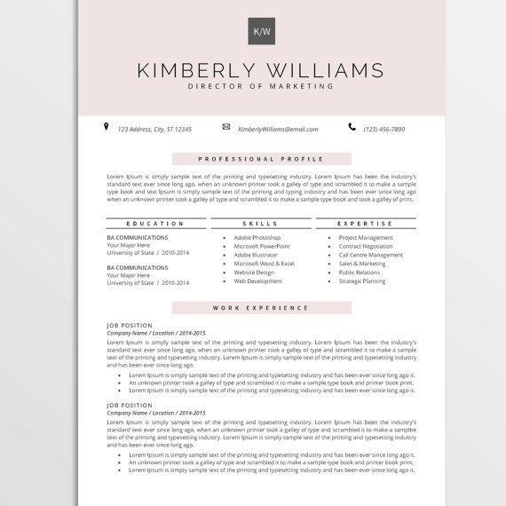 Professional Resume Template CV Template by cvtemplatesbydesign - Sample Address Book Template