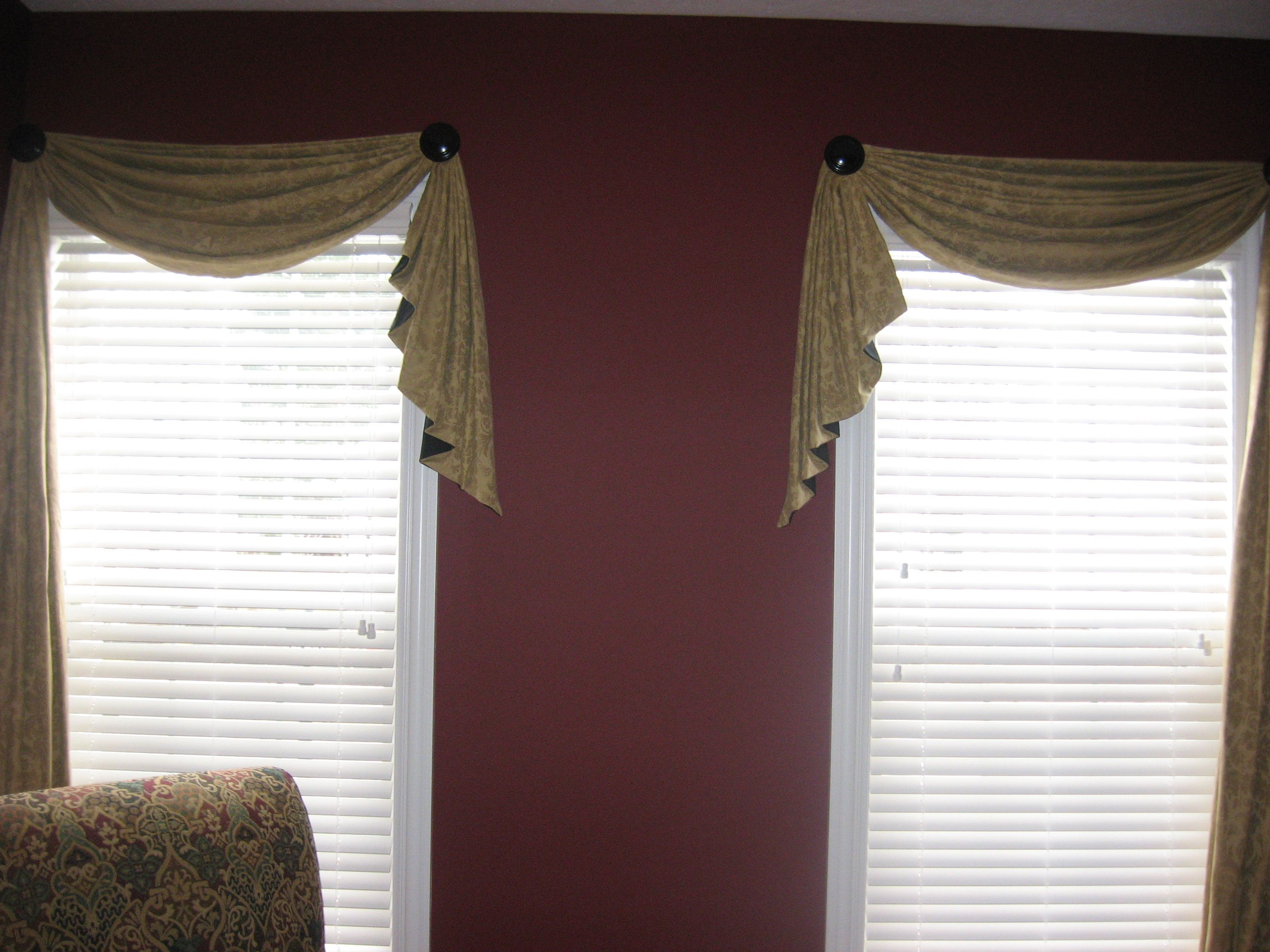 Google Image Result For Http://rosesdraperydesigns.com/wp Content/. Curtains  With ValanceValance IdeasScarf ...