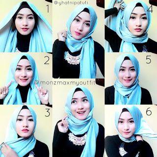 Tutorial Jilbab Pashmina Satin Terbaru Tutorial Dan Cara Berhijab Kursus Hijab Hijab Kerudung