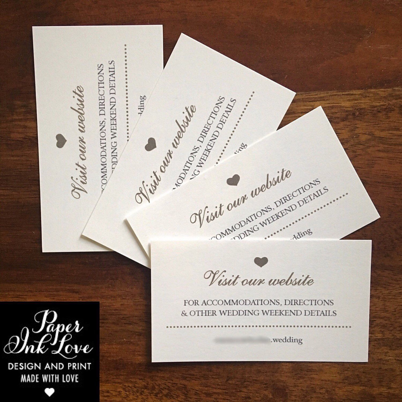 Wedding Website Cards Wedding Invitation Inserts Etsy Wedding Website Card Wedding Invitation Inserts Wedding Website