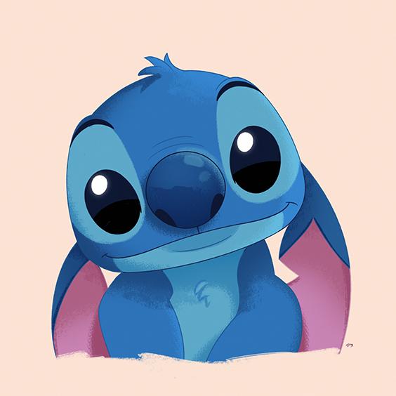 Lilo Stitch Digital Painting Illustration Character Design Design Cute Character Design Drawing Stitch Cartoon Stitch Character Chalk Art