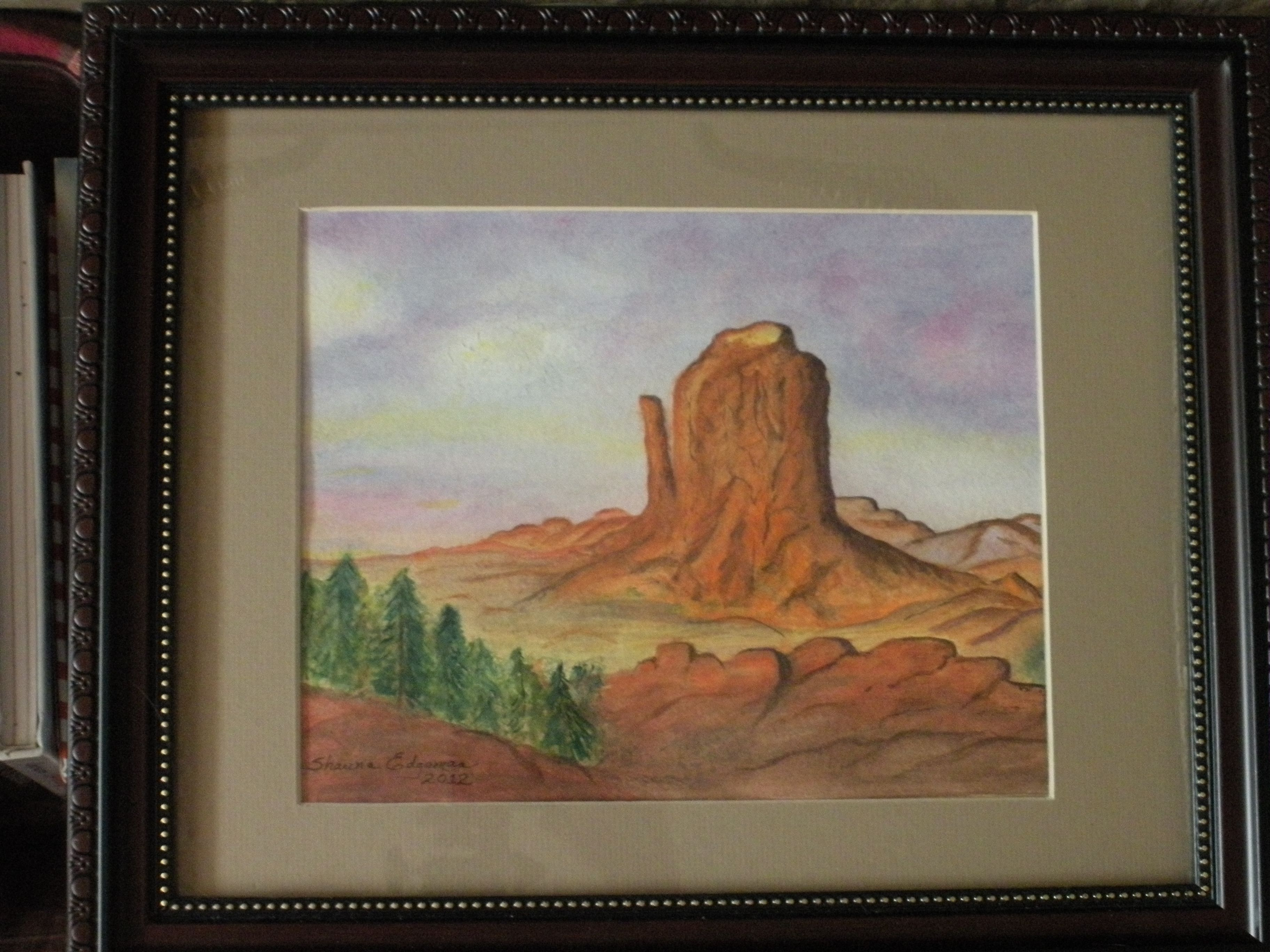 West Mitten, Monument Valley National Park. This was my first attempt at landscaping of any type. Pretty proud of it.