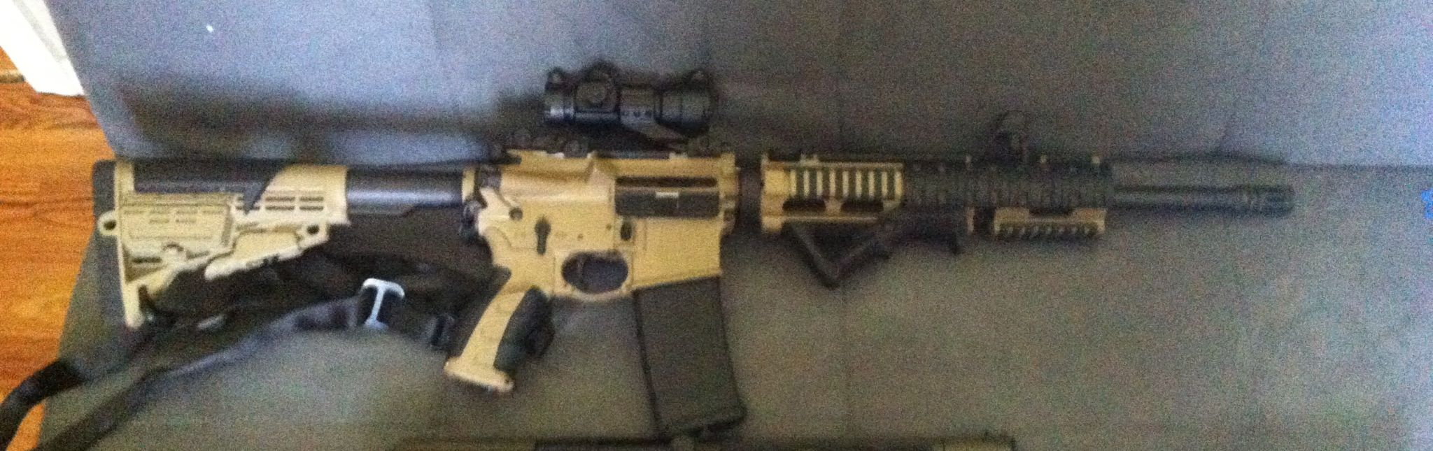Ar 15 chambered in 7.62x39,spikes tactical lower ambi