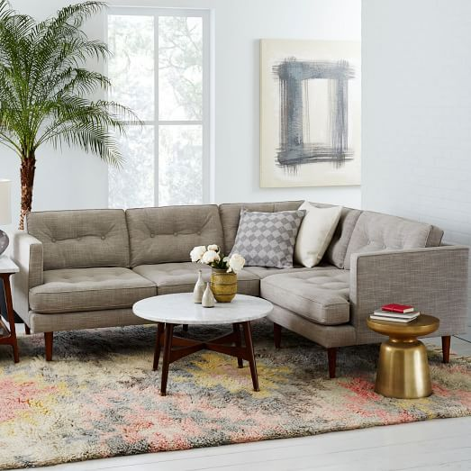 Peggy mid century sectional west elm san mateo eichler for West elm peggy sectional sofa