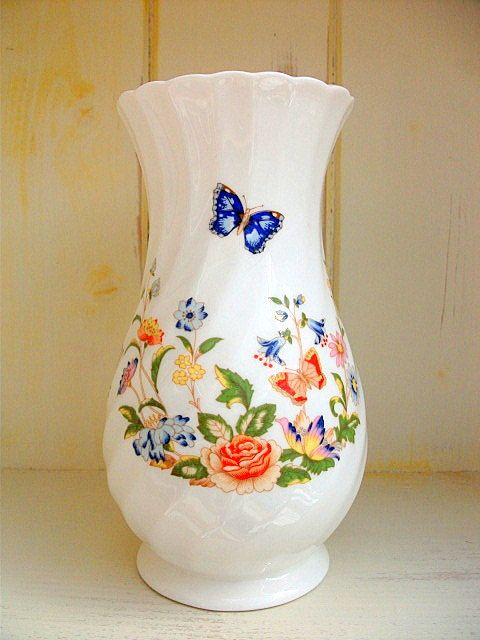 Now On Sale Aynsley Tall Vase Bone China Cottage Garden Tall