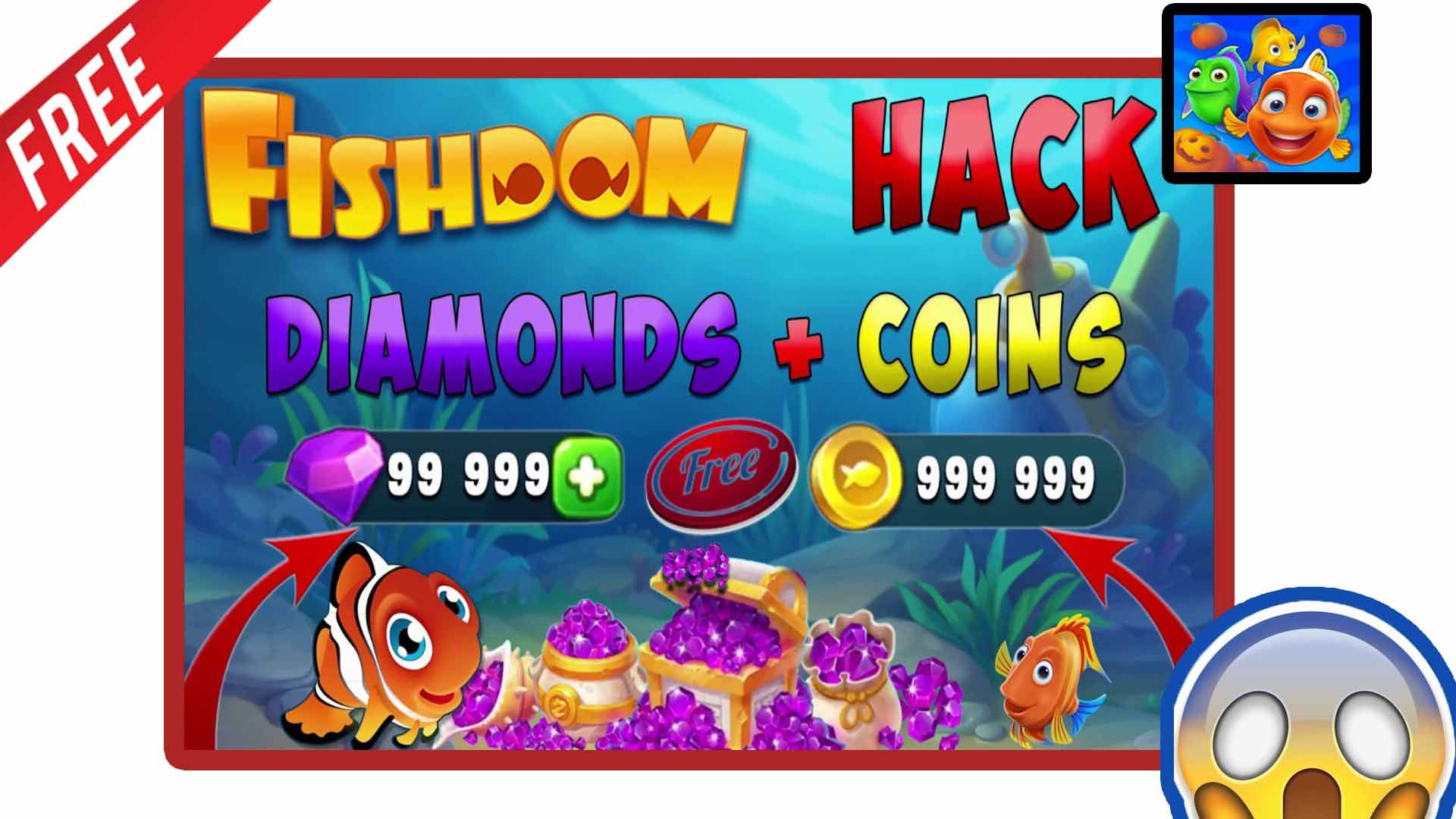 how to get free unlimited coins & diamonds by fishdom 2018