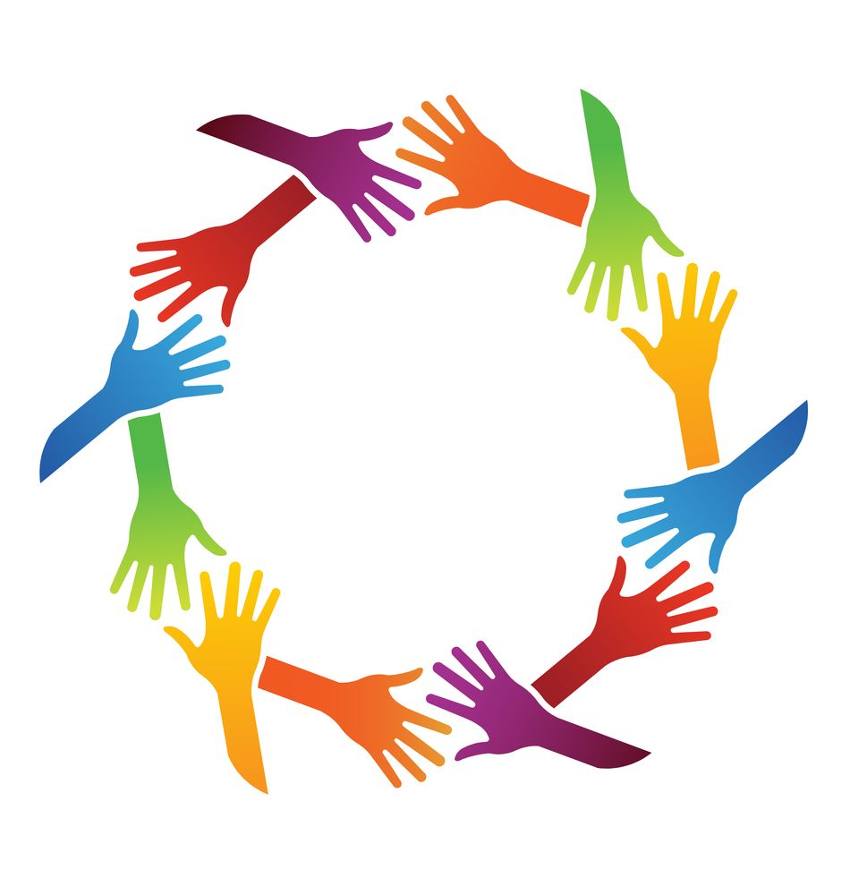 Examining A Guide To Sustainable Employee Engagement Hand Logo Clip Art Teamwork