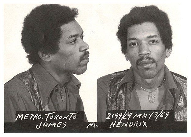 Ficha policial de Jimmy Hendrix