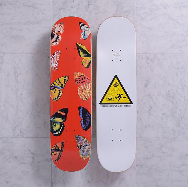 Quasi Butterfly Red Deck Red Butterfly Butterfly Skate Art
