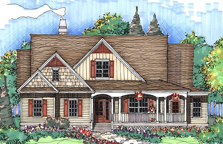 House Plan The Willoughby By Donald A Gardner Architects Country Style House Plans House Plans Victorian House Plans