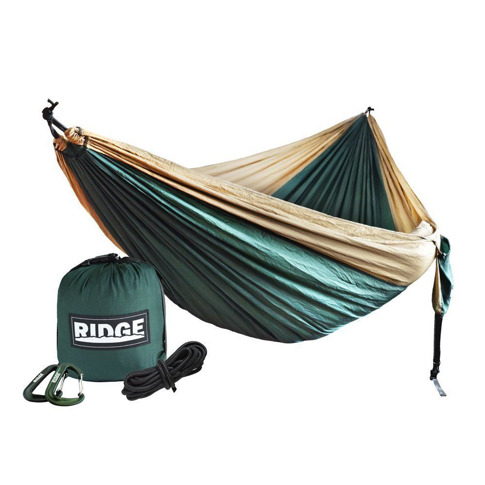 Double camping hammock ft nylon ripstop for extra comfort