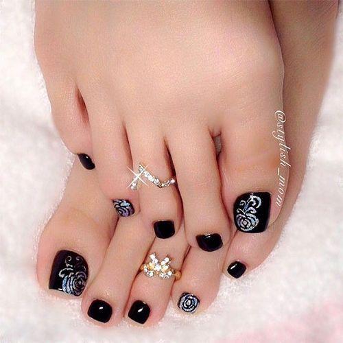 Nail Trends 2014 Elegant Fall Autumn Toe Nail Art Designs Ideas Trends Stickers 2014 3 Toe Nail Art Toe Nails Toe Nail Designs