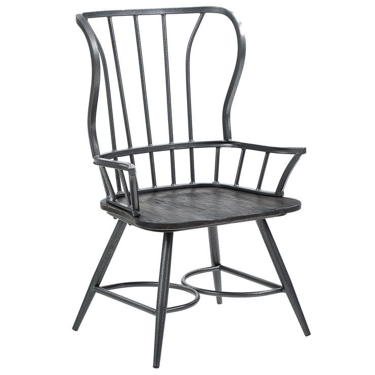Dixon Black Metal Farmhouse Armchair Dining Chair Dining Chairs Farmhouse Armchair Dining Arm Chair