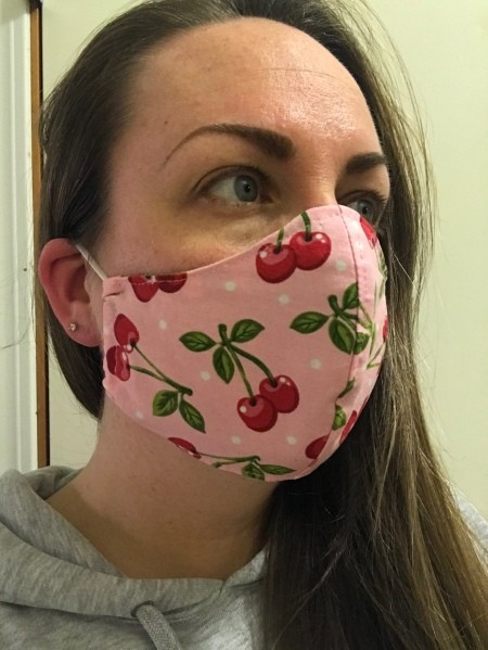 NonPleated Face Mask With Filter Pocket in 2020 Easy