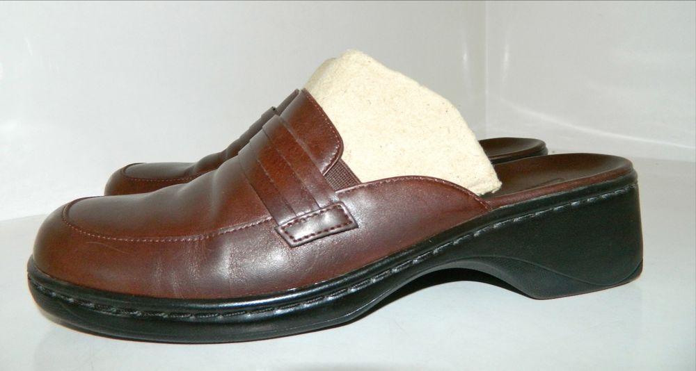 Clarks Leather Slides 8 Sandals & Flip Flops for Women | eBay