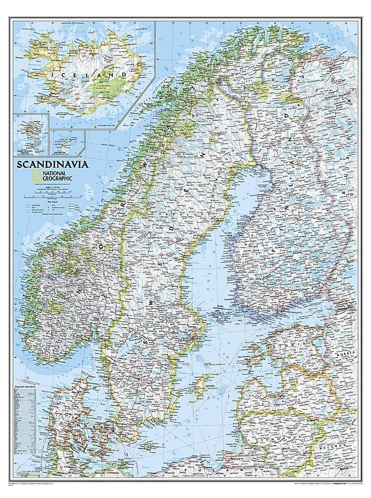Discover The Best Maps Of Scandinavia In 2020 Wall Maps Map Map Decor
