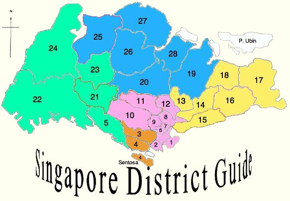 Singapore District Map With Guides Visit Site: Singapore District Map At Infoasik.co