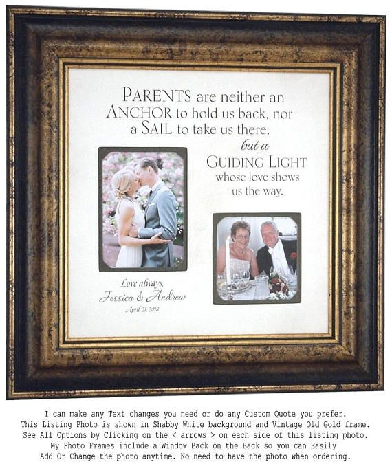 Wedding Gift for Parents, Parents Wedding Gift, Mother of the Groom ...