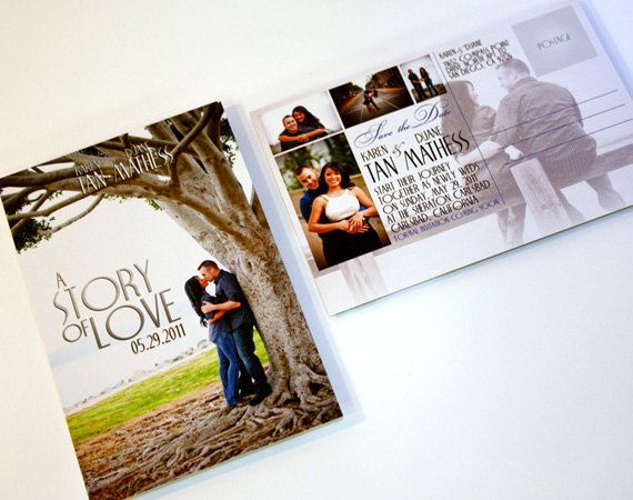 Book or Movie Romantic Themed Save the Date by SherdellahDesigns
