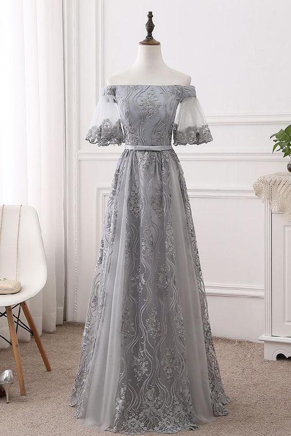 Cute Bridesmaid Dress Long, Prom Dress Lace