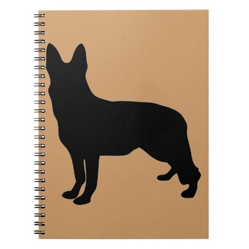 German Shepherd Silhouette Notebook