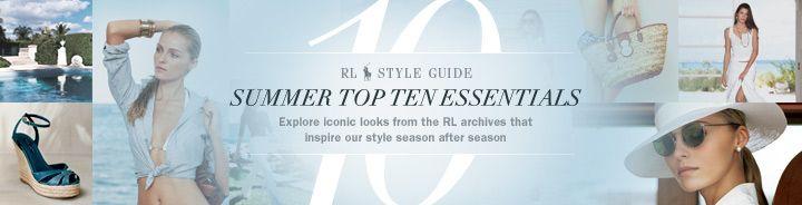 Summer's Top Ten - Women - RalphLauren.com