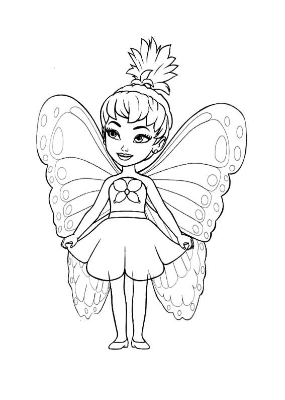 Little Fairy Coloring Page Disney Princess Coloring Pages Fairy