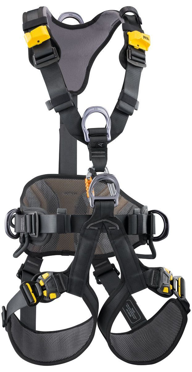 Petzl AVAO® Bod Fast Full Body Harness (Black/Yellow) in 2020