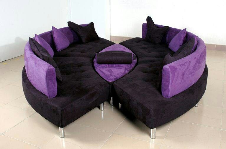 Marvelous Black And Purple In 2019 Purple Furniture Purple Leather Theyellowbook Wood Chair Design Ideas Theyellowbookinfo