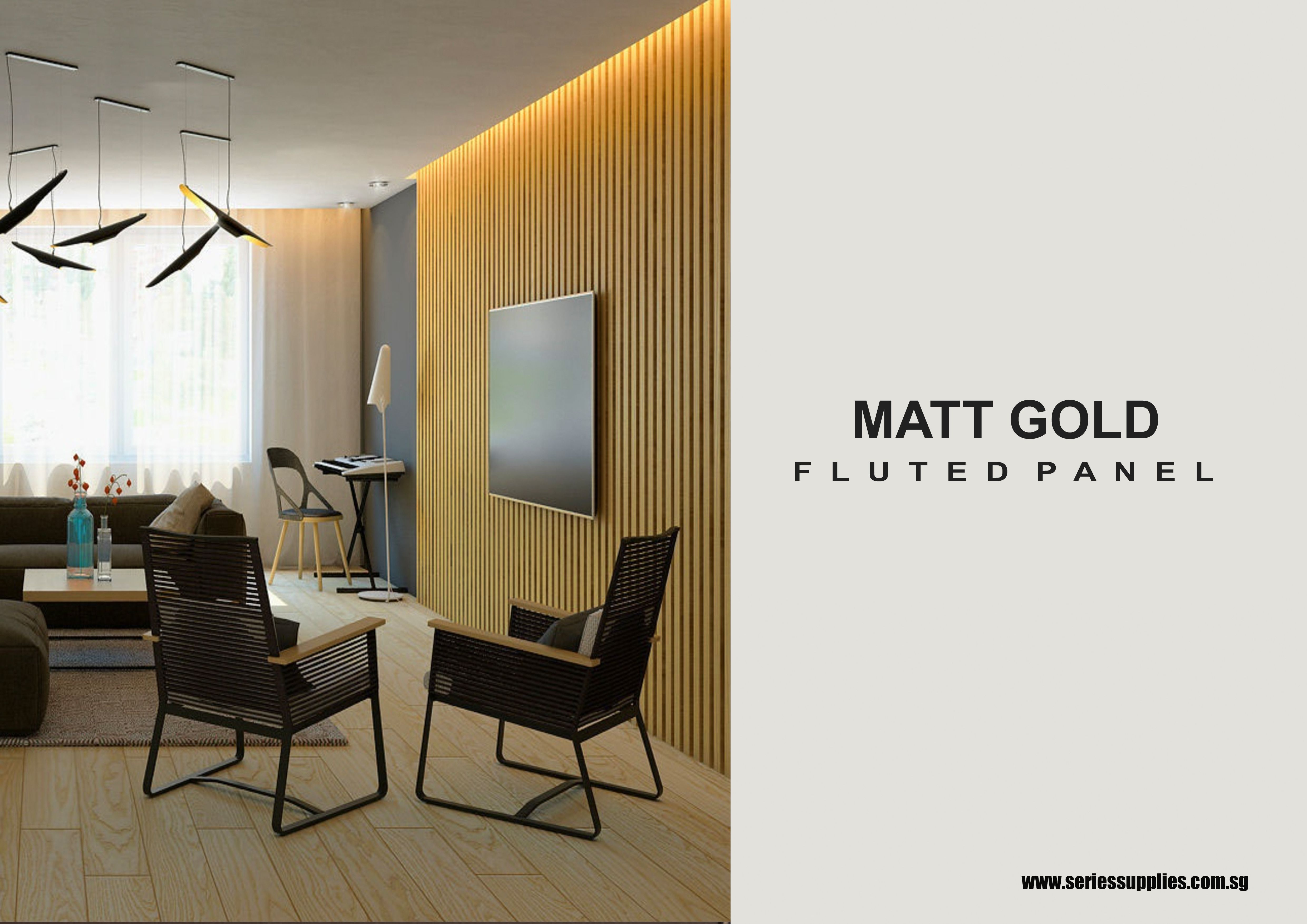 Matt Gold Fluted Panel In 2020 Wall Paneling Paneling Feature Wall Design