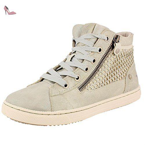 Mustang 1099 502 1, Sneakers Hautes Femme, (1 Weiss), 36 EU