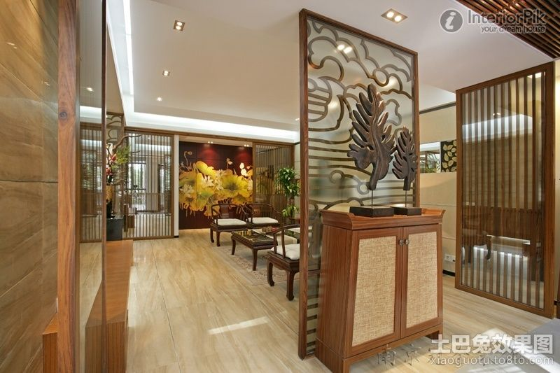 effect picture of chinese style living room partitions decorated