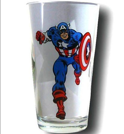 Captain America Clear Pint Glass