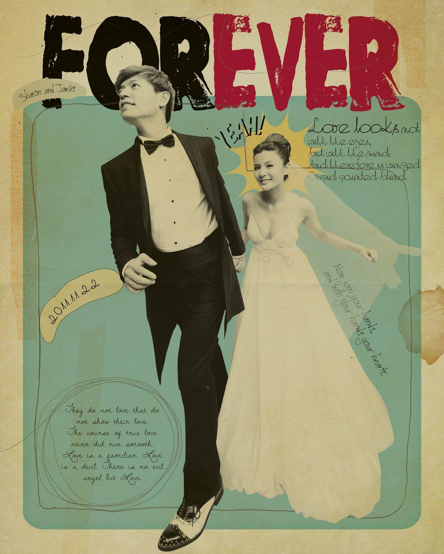 Pop Art Wedding Card | Wedding Inspiration | Pinterest | Wedding ...
