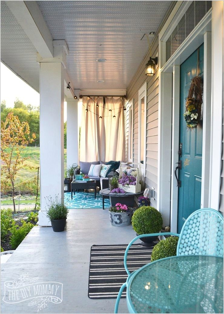 42 Stunning French Country Outdoor Decorating 86 French Country Boho Porch Decor Ideas In Teal Aqua Gray White Country Porch Country Porch Decor Porch Design