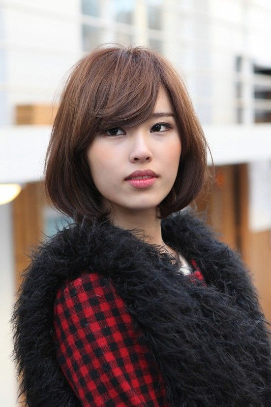 Messy Medium Bob With Long Sexy Fringe Simple Easy Daily Asian