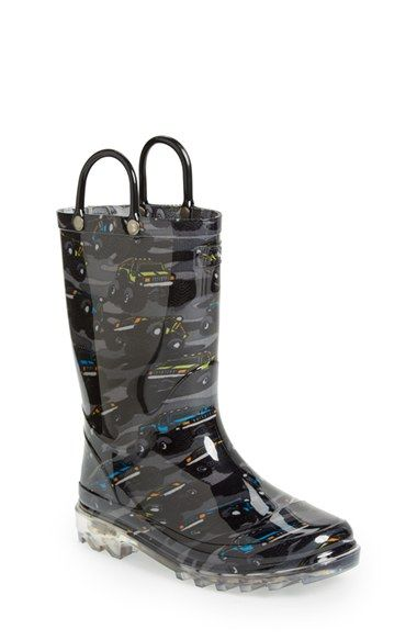 Western Chief 'Monster Crusher' Light-Up Rain Boot (Toddler & Little Kid) available at #Nordstrom