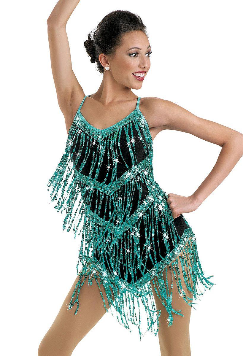 Sequin Fringe Camisole Dress; Weissman Costumes | Dance costumes ...