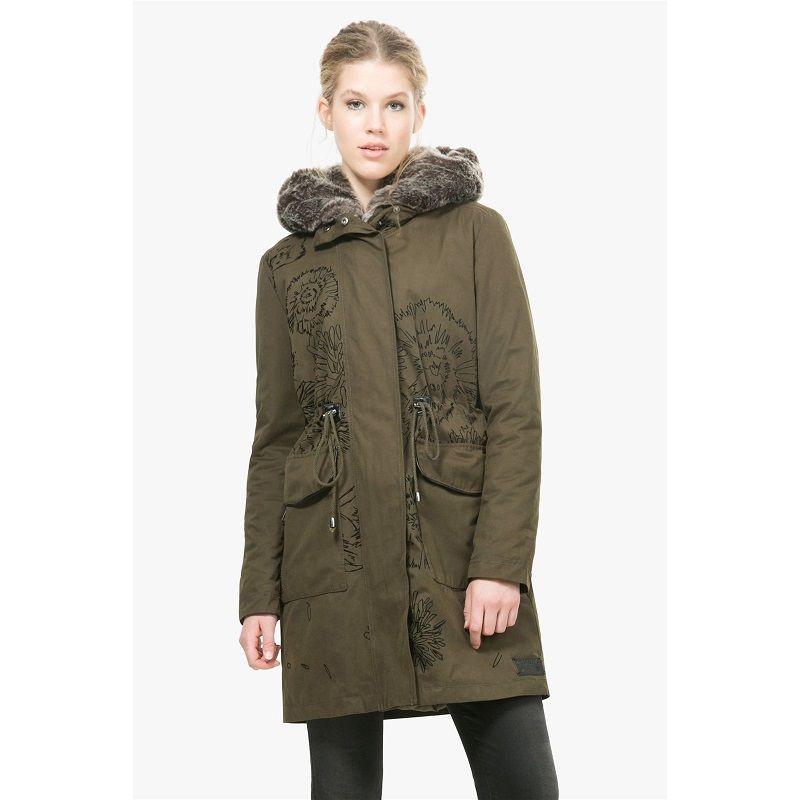 desigual tati manteau vert pas cher prix promo manteau femme brandalley brandalley. Black Bedroom Furniture Sets. Home Design Ideas
