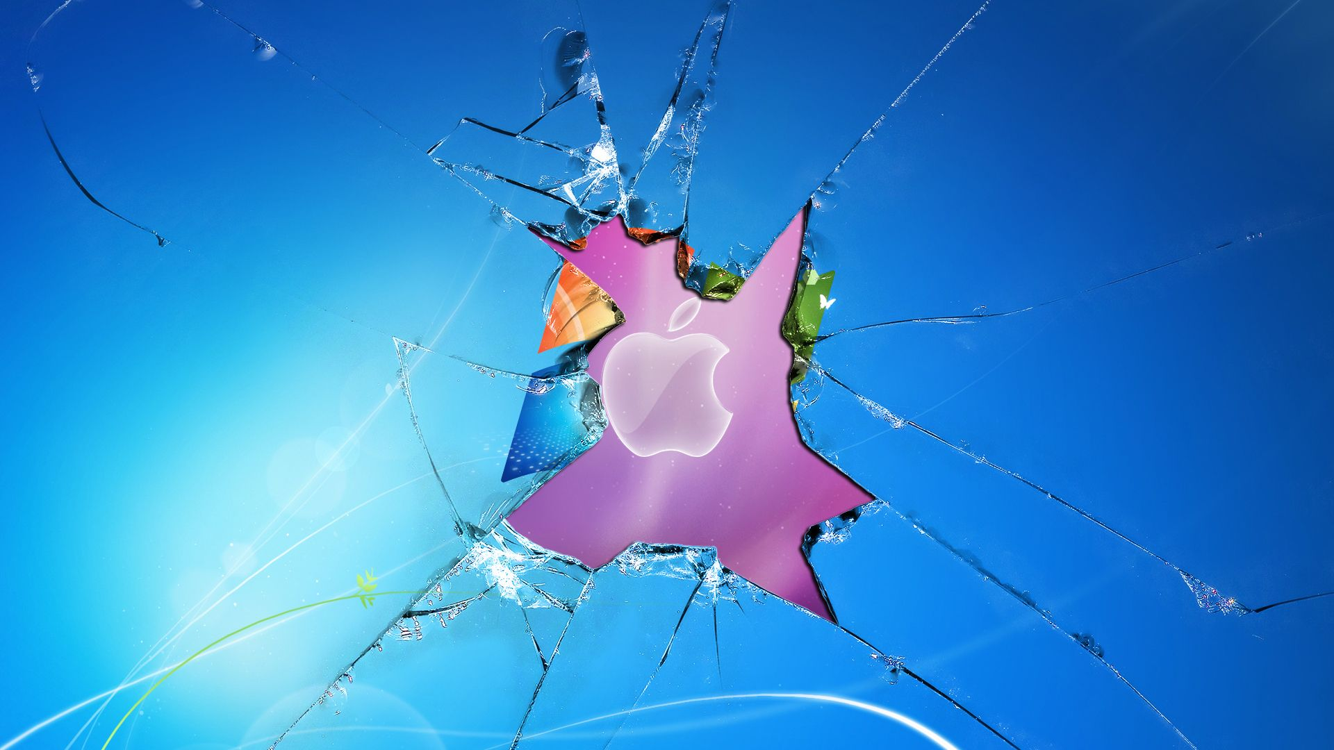 image result for broken window desktop background