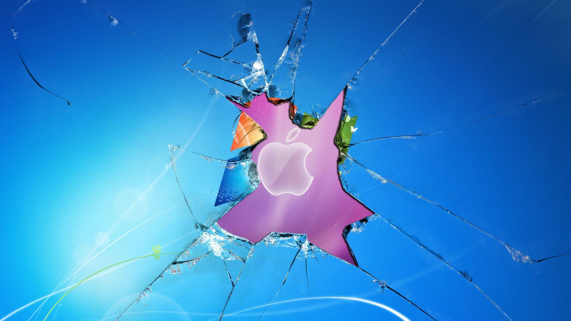 broken screen apple wallpaper mobile #blg | awesomeness | pinterest