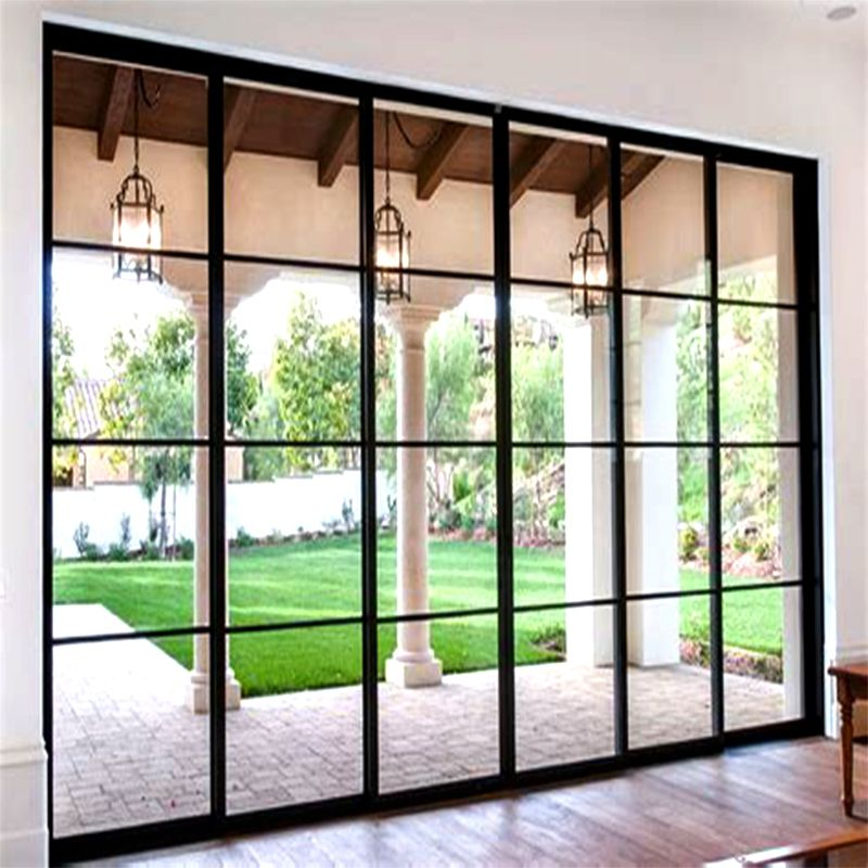 Hot Item 2018 Top Quality Grill Design Aluminum Tempered Glass Sliding Door Sliding Glass Door Aluminium Doors Glass Door