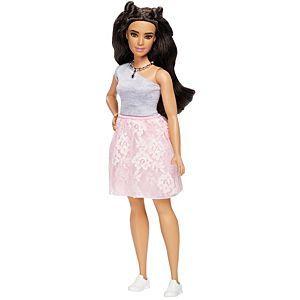 NEW Barbie Fashionista Doll Purple Ruffle /& Pink Glittered Dress ~ Clothing