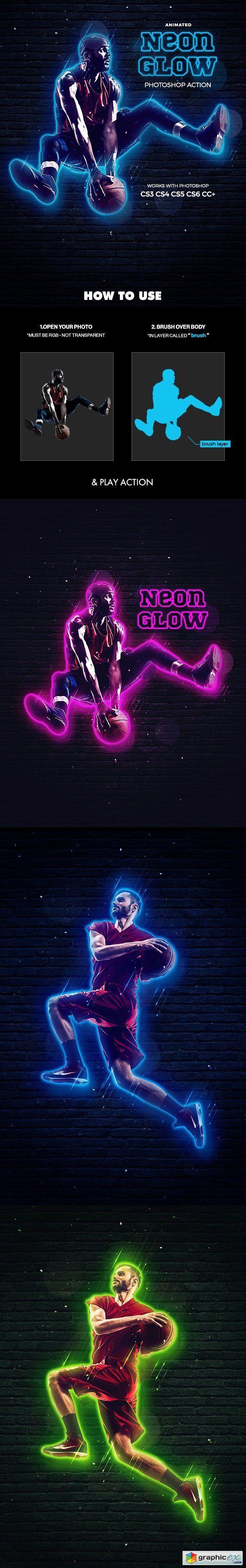 Neon Glow Action Animated Neon glow